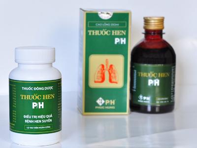 thuốc hen thảo dược dạng cao lỏng và viên hoàn