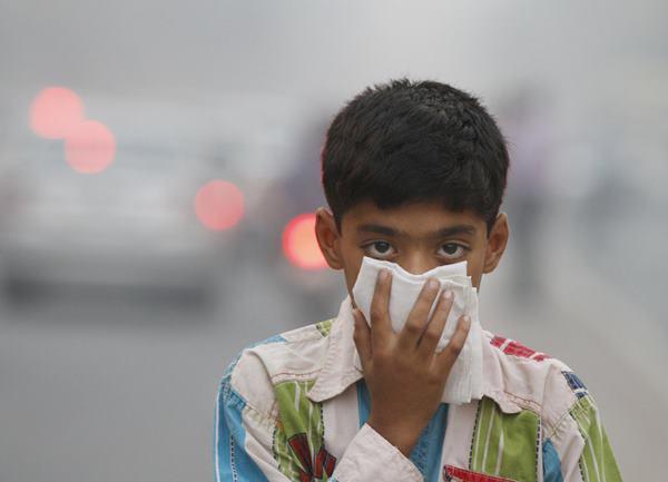 ô nhiễm không khí tổn hại đến trẻ em