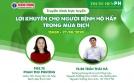 Truyền hình trực tuyến trên chuyên trang sức khỏe của Bộ Y tế: Lời khuyên cho người bệnh hô hấp trong mùa dịch